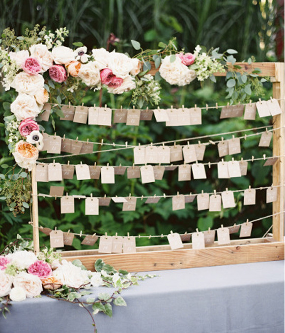 Etiquetas en las bodas 1 seating plan