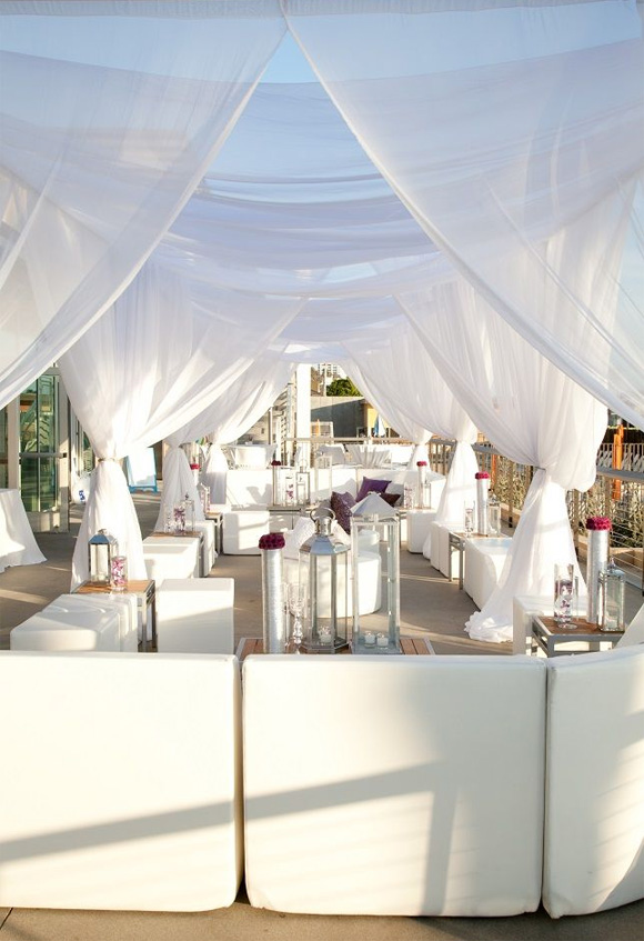 Decoración Chillout boda playa
