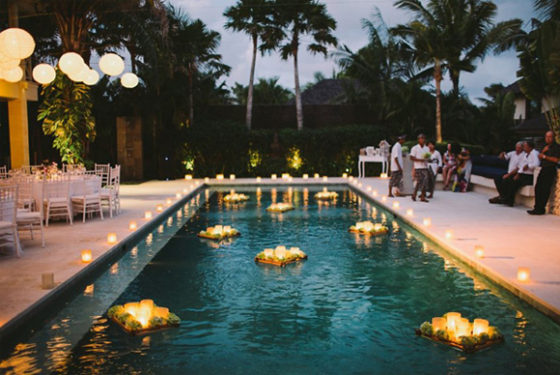 decoracion piscinas boda